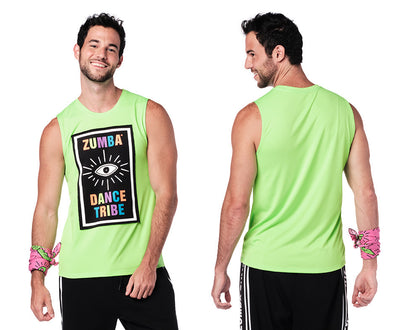 Zumba Dance Tribe Tank - Get in Lime Z2T00479