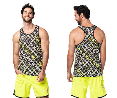 Zumba The Hype Is Real Men's Tank - Bold Black Z2T00497