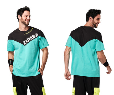 Zumba Bold Is The New Basic Men's Tee - Turquoise Z2T00498
