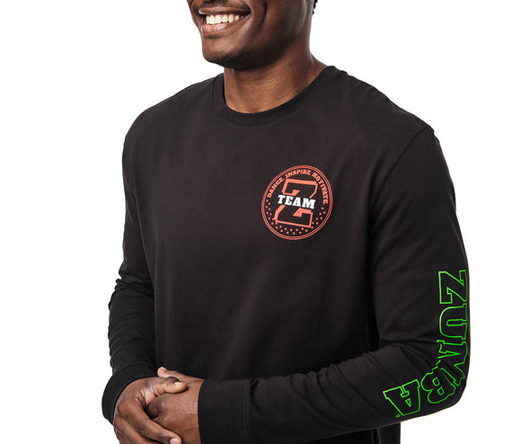 Zumba Team Zumba Long Sleeve Tee - Bold Black Z2T00502