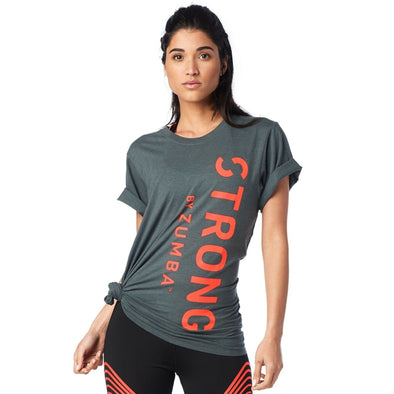 STRONG by Zumba Unisex Instructor Tee - Dark N Dirty Slate Z3T00118