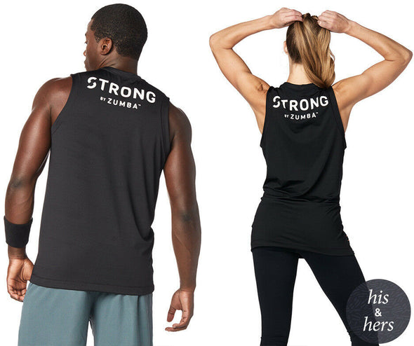 STRONG By Zumba Unisex Instructor Muscle Tank - Bold Black Z3T00122