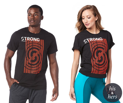 Strong By Zumba Feel Every Beat Instructor Tee - Bold Black Z3T00123