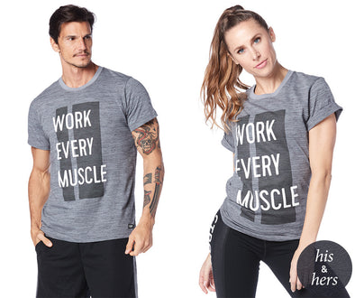 Strong by Zumba Work Every Muscle Tee - Outerspace Z3T00156