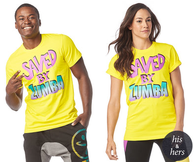 Zumba Saved By The Zumba Instructor Tee - Mell-Oh Yellow Z3T00169