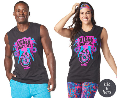 Zumba Unisex Instructor Vibes Muscle Tank - Bold Black Z3T00186