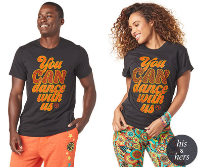 Zumba Unisex You Can Tee - Bold Black Z3T00187