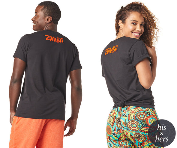 Zumba Unisex You Can Tee - Bold Black Z3T00187 XL/2XL