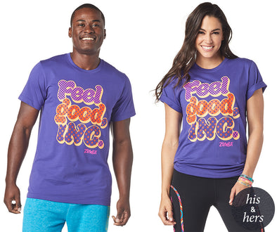 Zumba Unisex Feel Good Dance Good Tee - Grape Z3T00188
