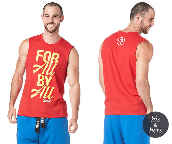 Zumba Made With Zumba Love Muscle Tank - Viva La Red Z3T00202