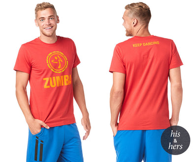 Zumba Keep Dancing Tee - Viva La Red Z3T00205