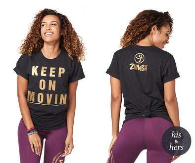 Zumba Keep Movin' Tee - Bold Black Z3T00222