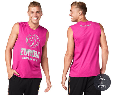 Zumba Made With Zumba Love Instructor Muscle Tank - Hot Fuchsia Z3T00227