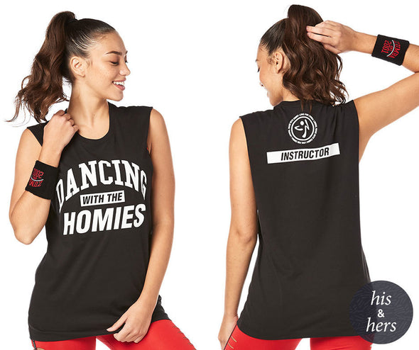 Zumba Dancing With The Homies Instructor Muscle Tank - Bold Black Z3T00230