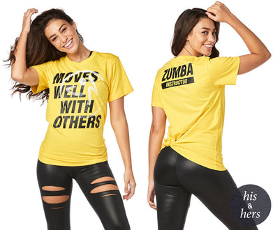 Zumba Moves Well With Others Zumba Instructor Tee - Sunrays Z3T00234