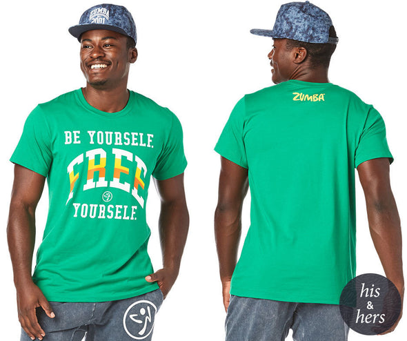 Zumba Be Yourself Tee - Groovin' Green Z3T00235