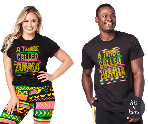 Zumba A Tribe Called Zumba Instructor Tee - Bold Black Z3T00240