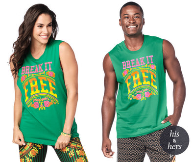 Zumba Break It Free Tank Top - Groovin' Green Z3T00244