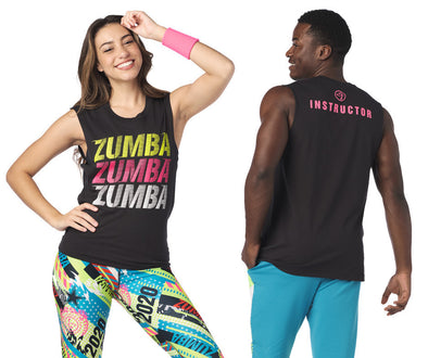 Zumba Stylin' Instructor Muscle Tank - Bold Black Z3T00259