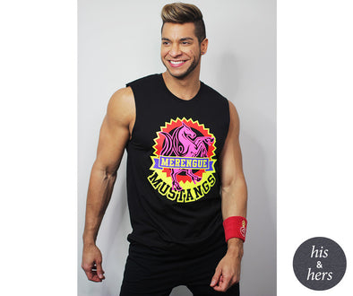 Zumba Merengue Mustangs Muscle Tank - Bold Black Z3T00284