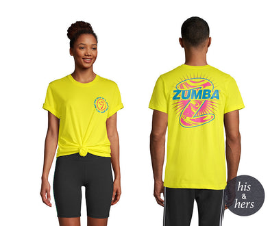 Zumba Not Enough Zumba Tee - Mell-Oh Yellow Z3T00305