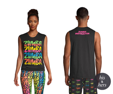 Zumba Forever Instructor Muscle Tank - Bold Black Z3T00308