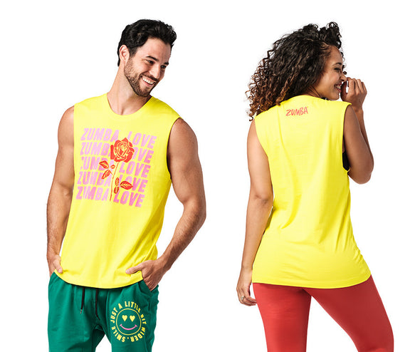 Zumba Spread Zumba Love Muscle Tank - Mell-Oh Yellow Z3T00318