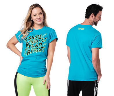 Zumba Shine Brighter Tee - Bangin Blue Z3T00332