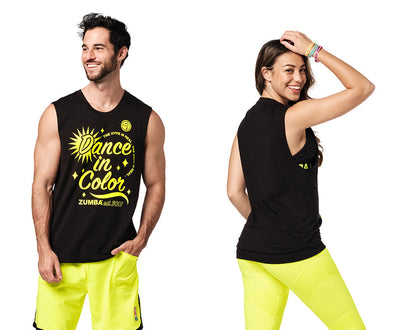 Zumba Dance In Color Muscle Tank - Bold Black Z3T00337