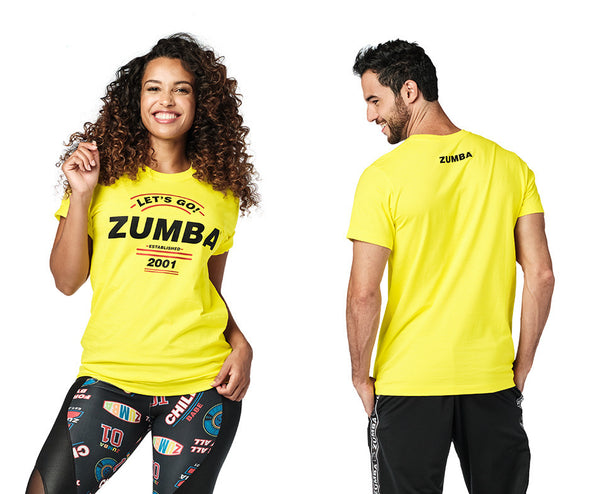 Zumba Let's Go Tee - Mell-OH Yellow Z3T00341