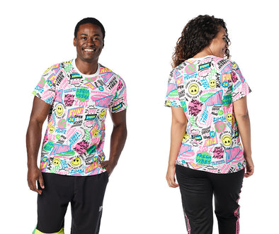 Zumba Unisex Pop Tee - Wear It Out White Z3T00361
