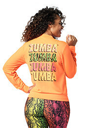 Zumba Wild For Zumba Zip-Up Jacket - Orange You Hot Z1T02213