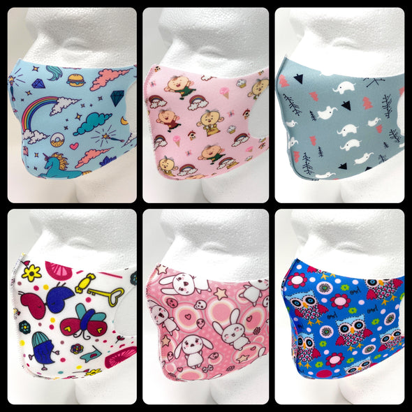 Kids Face Mask Lightweight Reusable Washable Face Cover 3D Design