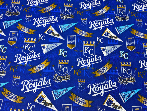 Kansas City Royals Face Mask with Filter Pocket Nose Wire Premium Pleated Design