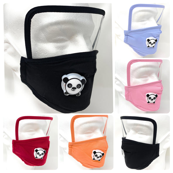 Kids Face Mask Eye Shield SAFE Breathing Vent Filter Pocket Nose Wire Adjustable