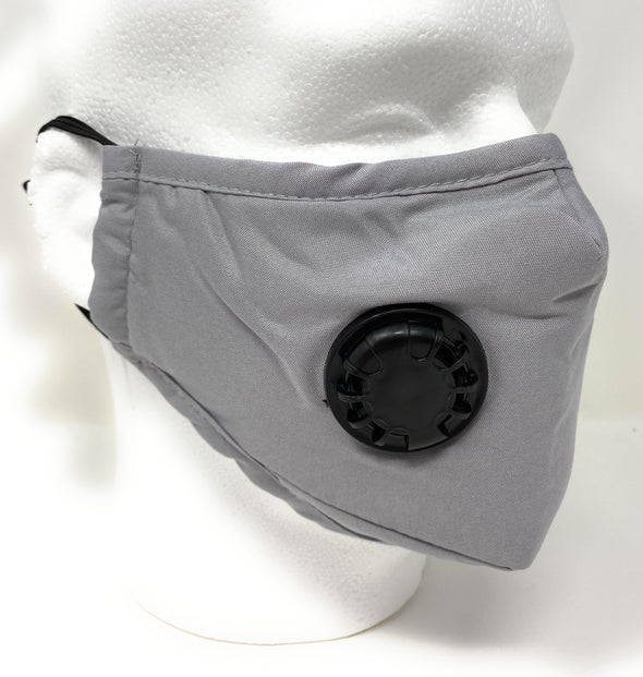 Face Mask with Filter Pocket Nose Wire Adjustable Ergonomic - Filters Included