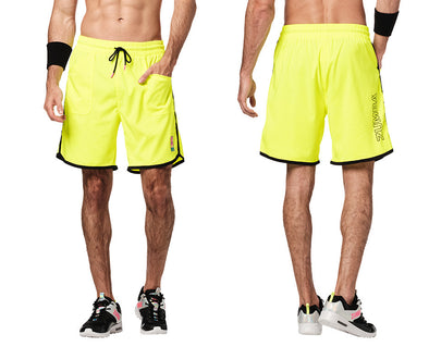 Zumba Bright Bold Zumba Men's Shorts - Caution Z2B00263