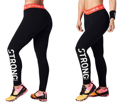 Strong by Zumba Let It Sync In Ankle Leggings - Bold Black Z1B00715 2XL