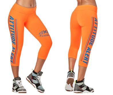 Zumba Attitude Alert Instructor Capri Leggings - Orange You Hot Z1B00937
