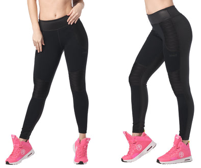 Zumba Less Talk More Dance Ankle Leggings - Bold Black Z1B00983