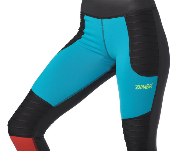 Zumba Move With Me Ankle Leggings  - Bold Black Z1B00984