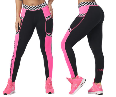 Zumba Less Talk More Dance Printed Ankle Leggings - Bold Black Z1B00985