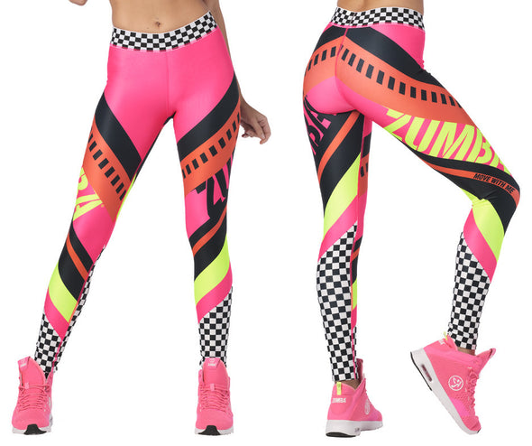 Zumba Faster Better Ankle Leggings - Gumball Z1B00987