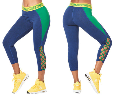 Zumba Est. 2001 Crop Leggings - Night Sky Z1B00994