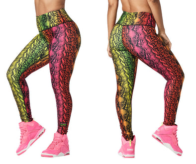 Zumba Wild For Zumba High Waisted Long Leggings - Get in Lime Z1B01092