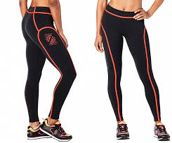 STRONG By Zumba Piped Leggings - Bold Black Z1S00048 Small