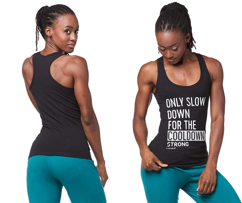 STRONG by Zumba Slow Down Cooldown Racerback - Bold Black Z1T01768