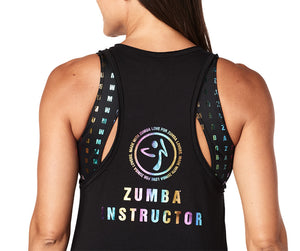 Zumba Keep On Movin' Instructor Tank - Back to Black Z1T01851