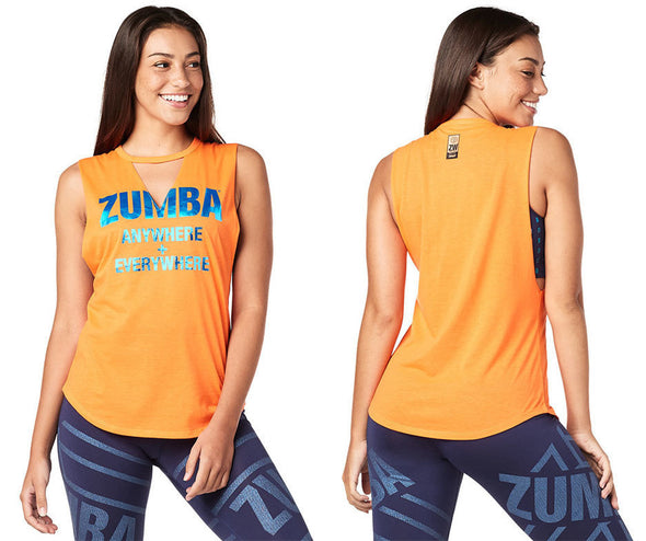 Zumba Anywhere + Everywhere Tank - Orange you Hot Z1T01852
