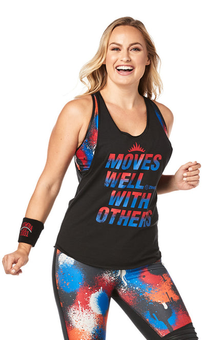 Zumba Moves Well With Others Tank - Bold Black Z1T01899